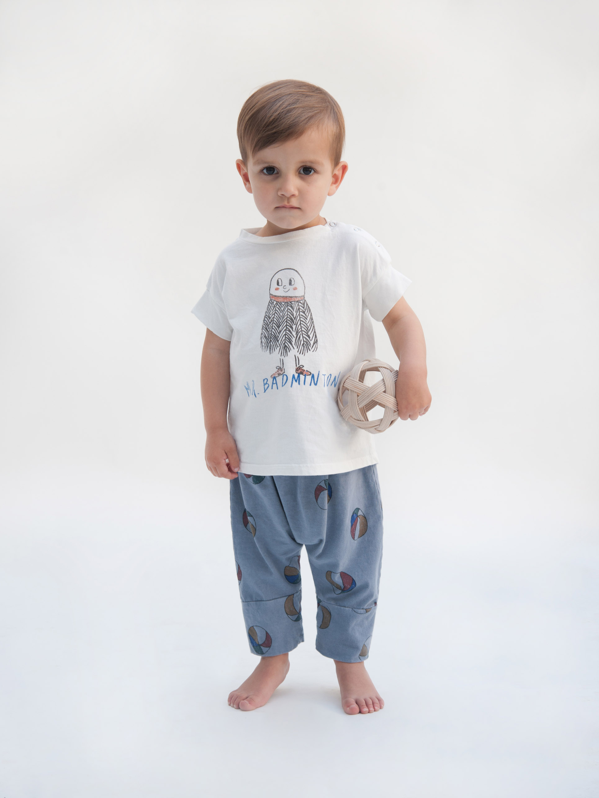 bobo choses baggy baby trousers basket ball outfit