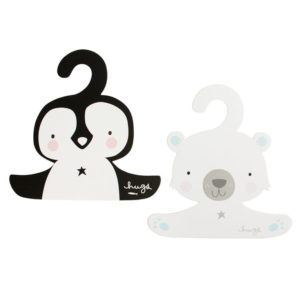 Coat Hanger Set Penguin & Polar Bear