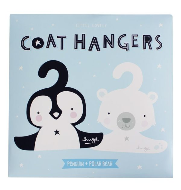 A Little Lovely Company Coat Hanger Set Penguin And Polar Bear 2
