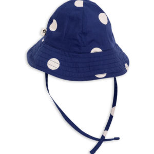 Dot Sun Hat Navy
