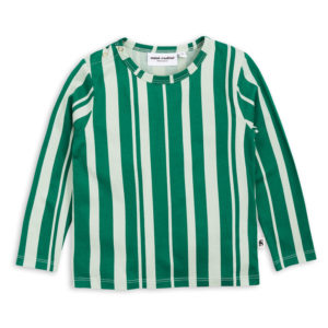 Odd Stripe Ls Tee Green