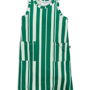 Odd Stripe Tank Dress Green