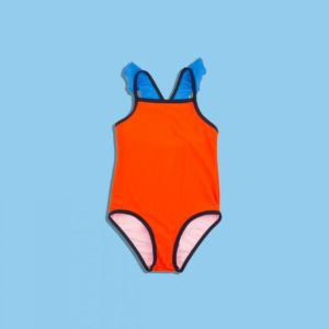 Color Block Frills Swimsuit
