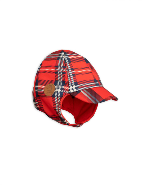 1 Mini Rodini Alaska Check Cap Red S Big