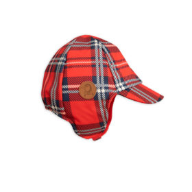 2 Mini Rodini Alaska Check Cap Red S Big