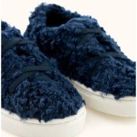 Tinycottons Fluffy Sneakers Navy 2