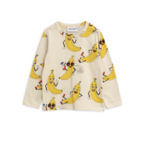 Banana Aop Long Sleeve Tee Offwhite