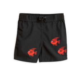 1 Mini Rodini Fish Swimshorts Black S Big