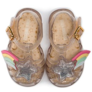 Mini Melissa Possession Jelly Shoe Clear Gold