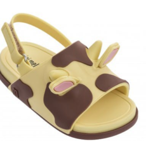Mini Melissa Beach Slide Sandal Yellow