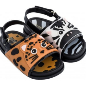 Mini Melissa Beach Slide Sandal Zoo