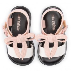 Mini Melissa Mar Sandal Black White Pink