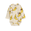 Mini Rodini Banana Aop Ls Body Offwhite