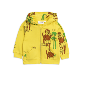 Cool Monkey Aop Zip Hood Yellow