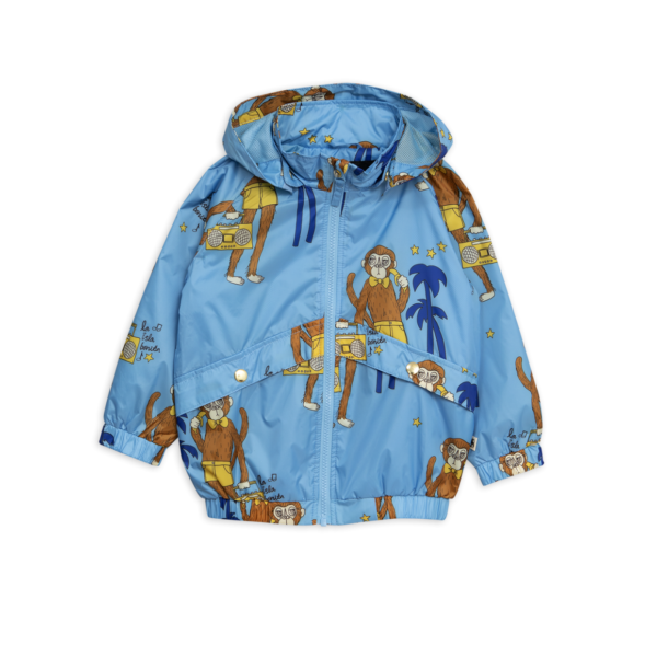 Mini Rodini Cool Monkey Sporty Jacket Light Blue