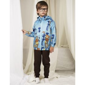 Mini Rodini Cool Monkey Sporty Jacket Light Blue Outfit