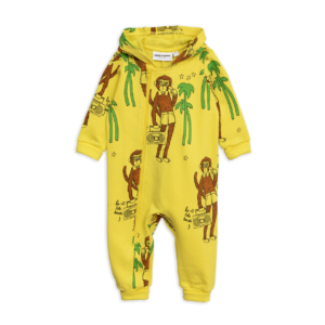 Cool Monkey Aop Onesie Yellow