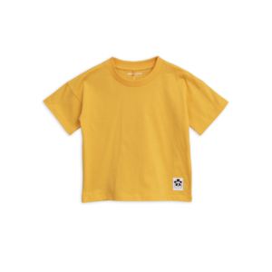 Solid Cotton Short Sleeve Tee Yellow