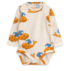 Mini Rodini Whale Aop Long Sleeve Body Orange