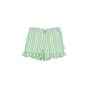 Retro Stripes  Ruffles Short