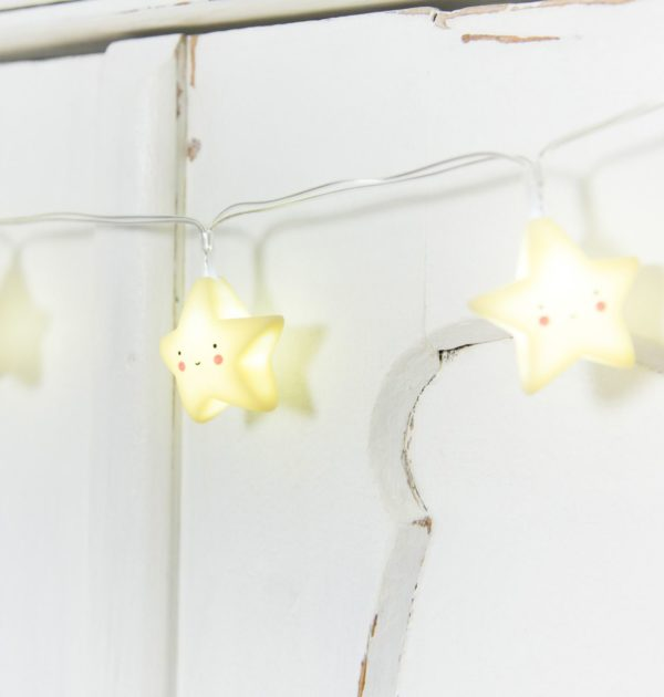 A Little Lovely Company String Light Yellow Stars 4