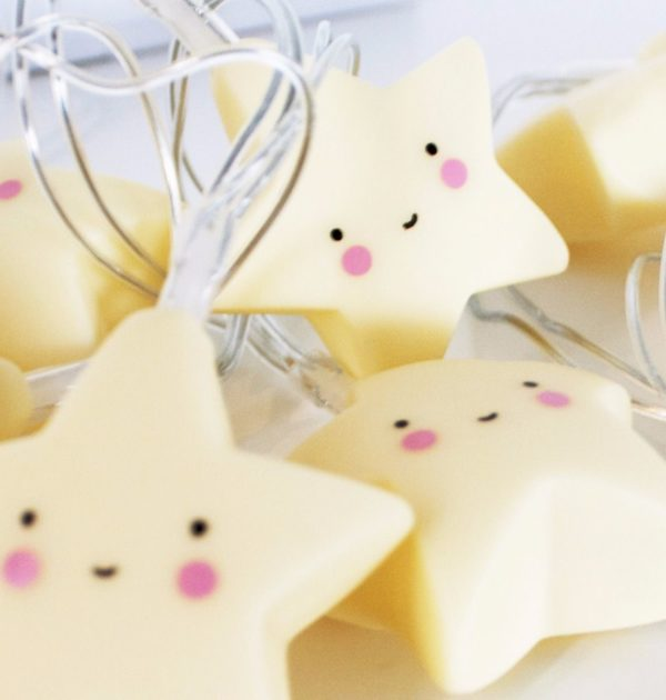 A Little Lovely Company String Light Yellow Stars 5