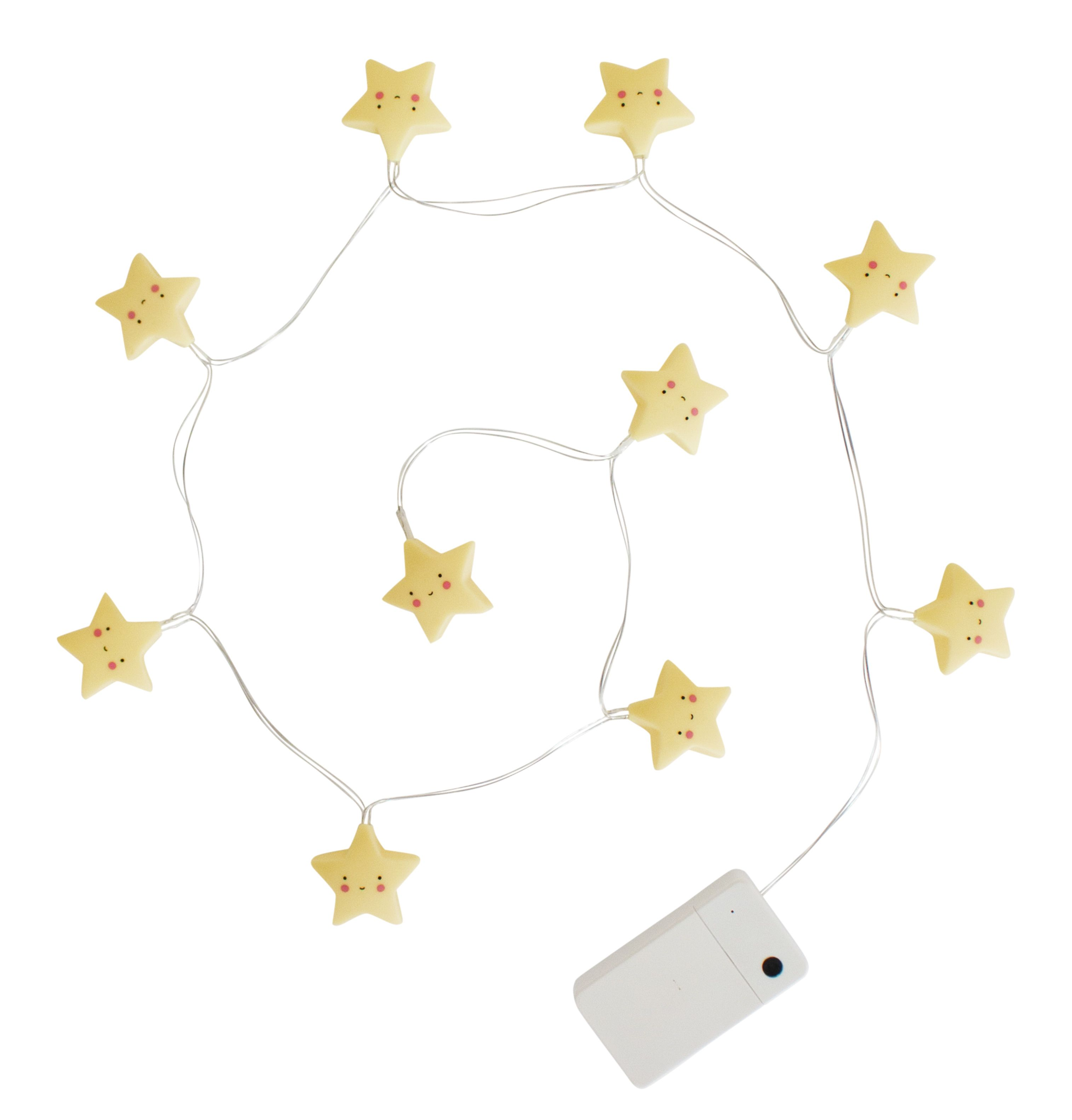 A Little Lovely Company String Light Yellow Stars