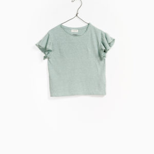 T-shirt Menta Righe Ruches