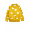 Mini Rodini Knitted Heart Sweater Yellow