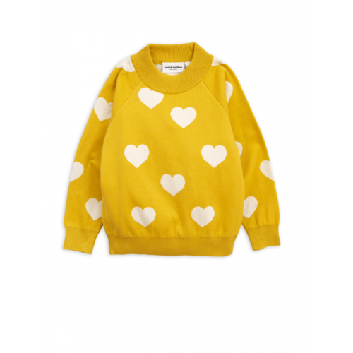 Knitted Heart Sweater Yellow