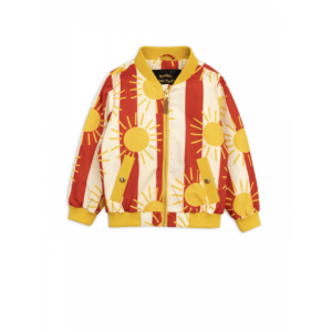 Sun Stripe Baseball Jacket Red