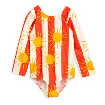Mini Rodini Su Stripe Long Sleeve Swimsuit