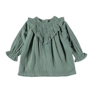 Arlette Embroidery Dress Green Forest