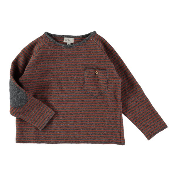 Buho Bruno Stripes Pocket Sweater Front