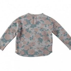 Buho Rose Floral Sweater Back