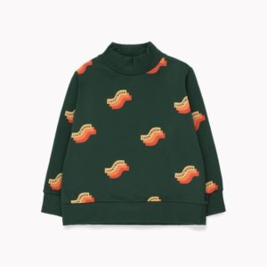 Wave Sweatshirt Turtle Neck