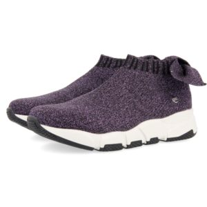 Sneakers Slip On Lurex Viola