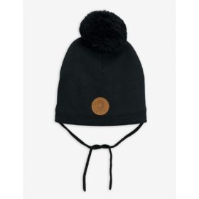 Mini Rodini Panda Pom Pom Hat Black