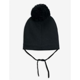 Mini Rodini Penguin Pom Pom Hat Black Back