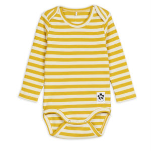 Stripe Rib Long Sleeve Body Yellow