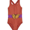 2028011242 1 Mini Rodin Butterfly Sporty Swimsuit Red V2