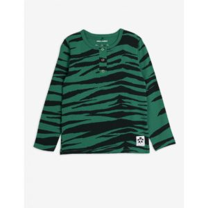 Basic Tiger Grandpa Shirt Green