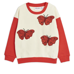 Butterflies Sweatshirt Red