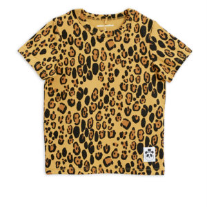 Basic Leopard Short Sleeve T-Shirt Beige