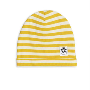 Stripe Rib Beanie Yellow