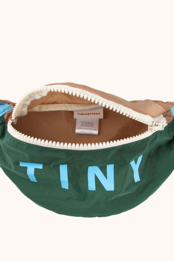 Tinycottons Color Block Fanny Bag Dark Green 4