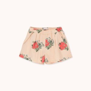 Flowers Pleated Shorts