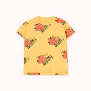 Flowers Rib Tee Yellow / Light Red