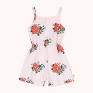 Flowers Romper Light Pink / Red