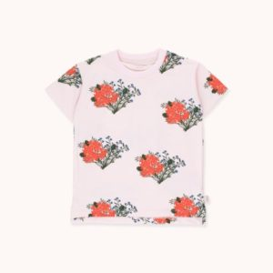 Flowers Tee Light Pink / Red